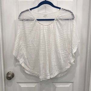 Ann Taylor sheer top with butterfly sleeves
